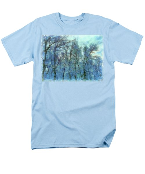Winter Blue Forest Men's T-Shirt  (Regular Fit)