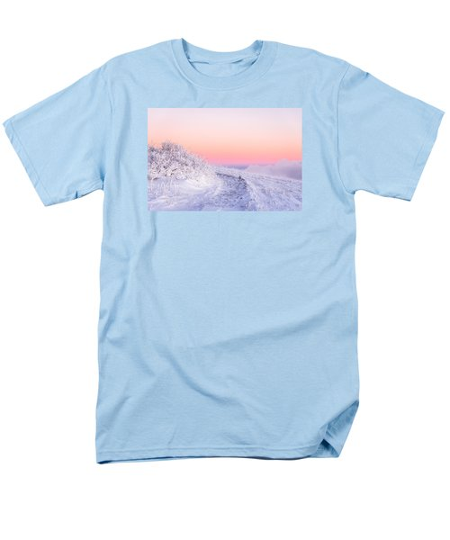 Men's T-Shirt  (Regular Fit) featuring the photograph Winter Glow On Roan Mountain by Serge Skiba