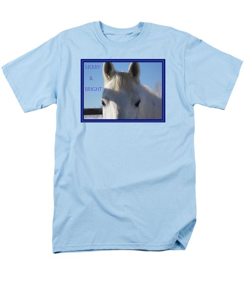 Men's T-Shirt  (Regular Fit) featuring the photograph Winter Horse Christmas by Deborah Moen