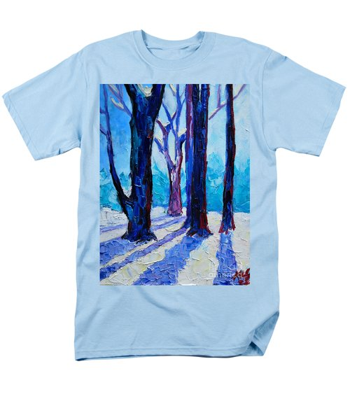 Men's T-Shirt  (Regular Fit) featuring the painting Winter Impression by Ana Maria Edulescu