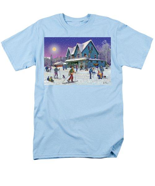 Winter In Campton Village Men's T-Shirt  (Regular Fit) by Nancy Griswold