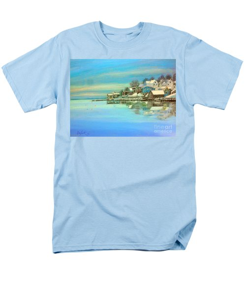 winter in Chester ,Nova Scotia  Men's T-Shirt  (Regular Fit) by Rae  Smith PAC