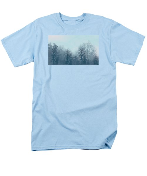 Men's T-Shirt  (Regular Fit) featuring the digital art Winter Morning by Milena Ilieva