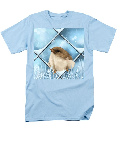 Men's T-Shirt  (Regular Fit) featuring the painting Winter Sweetness  by Veronica Minozzi