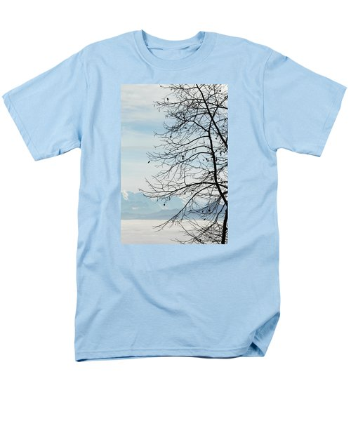 Winter Tree And Alps Mountains Upon The Fog Men's T-Shirt  (Regular Fit) by Elenarts - Elena Duvernay photo
