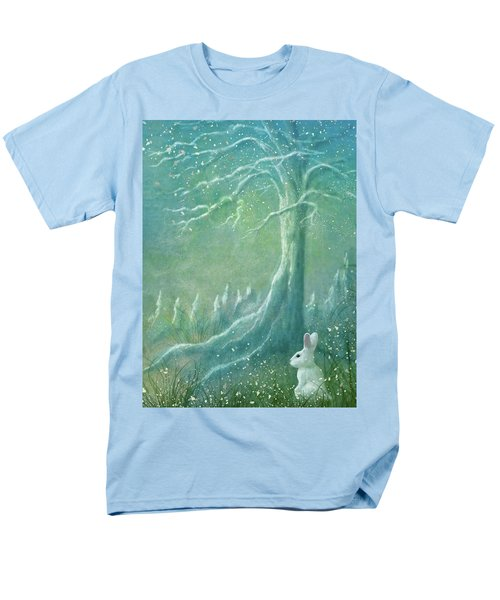 Men's T-Shirt  (Regular Fit) featuring the digital art Winters Coming by Ann Lauwers