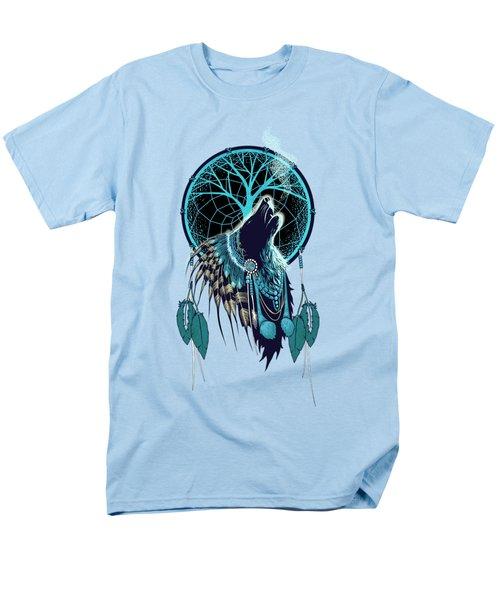 Wolf Indian Shaman Men's T-Shirt  (Regular Fit) by Sassan Filsoof