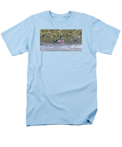 Men's T-Shirt  (Regular Fit) featuring the photograph Wood Duck by Jerry Cahill