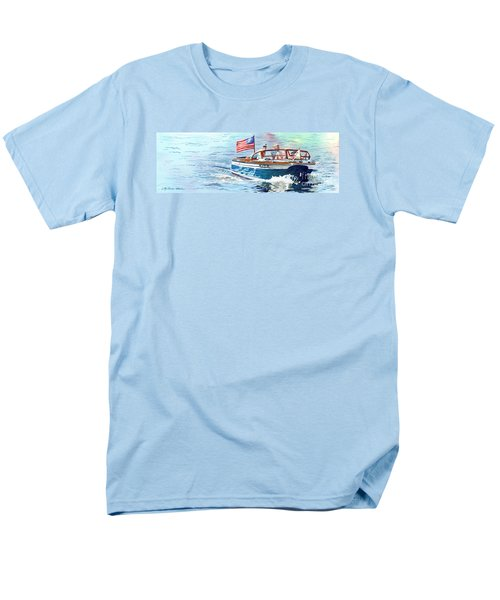 Men's T-Shirt  (Regular Fit) featuring the painting Wooden Boat Blues by LeAnne Sowa