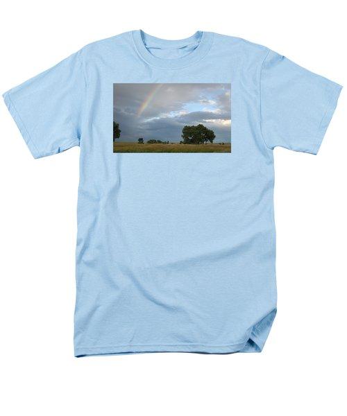 Wyoming Rainbow Men's T-Shirt  (Regular Fit) by Diane Bohna