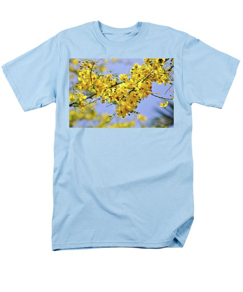 Men's T-Shirt  (Regular Fit) featuring the photograph Yellow Blossoms by Gandz Photography