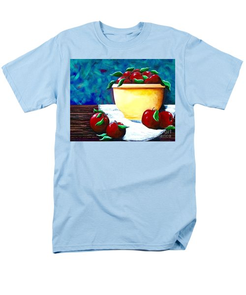 Yellow Bowl Of Apples Men's T-Shirt  (Regular Fit) by Jennifer Lake