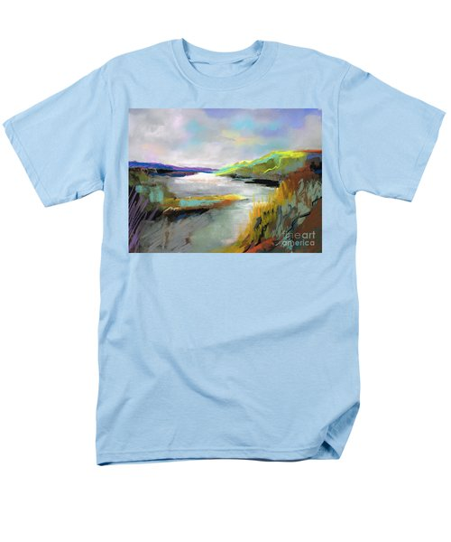Yellow Mountain Men's T-Shirt  (Regular Fit) by Frances Marino