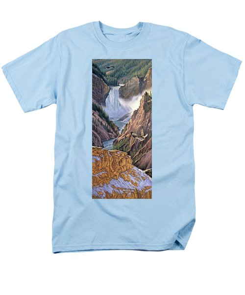 Yellowstone Canyon-osprey Men's T-Shirt  (Regular Fit) by Paul Krapf