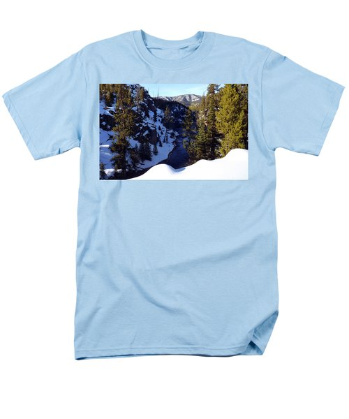 Yellowstone In Winter Men's T-Shirt  (Regular Fit) by C Sitton