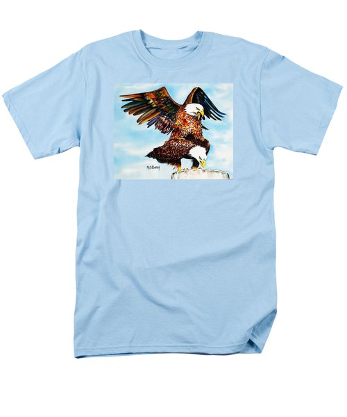 Men's T-Shirt  (Regular Fit) featuring the painting You Ruffle My Feathers by Maria Barry