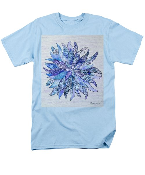 Men's T-Shirt  (Regular Fit) featuring the drawing Zen Flower Mandala by Megan Walsh