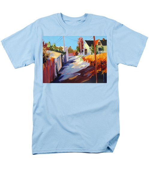 Men's T-Shirt  (Regular Fit) featuring the painting Zig Zag Shadows by Rae Andrews