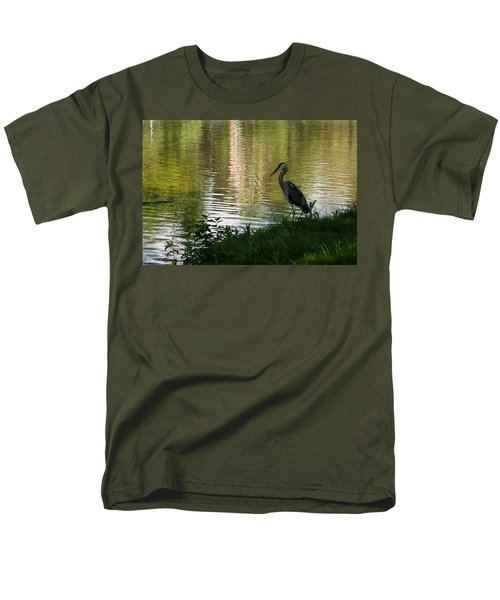 Men's T-Shirt  (Regular Fit) featuring the photograph Contemplating Impressionist Paintings by Georgia Mizuleva