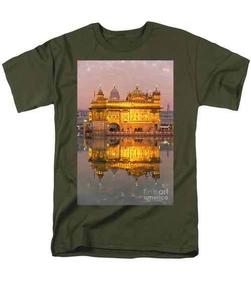 Golden Temple In Amritsar - Punjab - India Men's T-Shirt  (Regular Fit) by Luciano Mortula