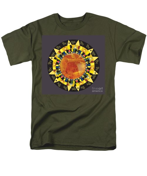 Men's T-Shirt  (Regular Fit) featuring the digital art Amber Mandala by Kim Prowse
