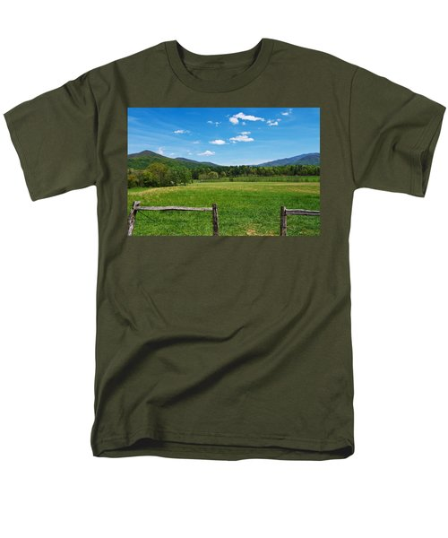 Cades Cove Men's T-Shirt  (Regular Fit) by Melinda Fawver