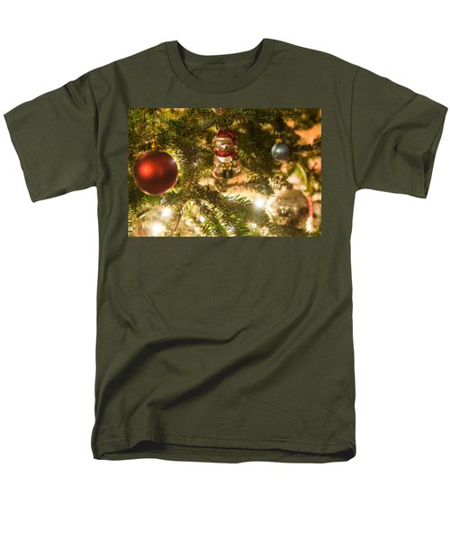 Men's T-Shirt  (Regular Fit) featuring the photograph Christmas Tree Ornaments by Alex Grichenko
