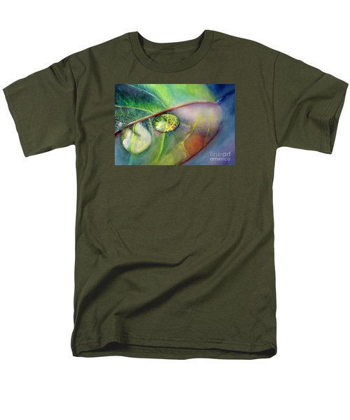 Men's T-Shirt  (Regular Fit) featuring the painting Drops by Allison Ashton