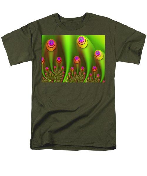 Fractal Fantasy Garden Men's T-Shirt  (Regular Fit) by Gabiw Art