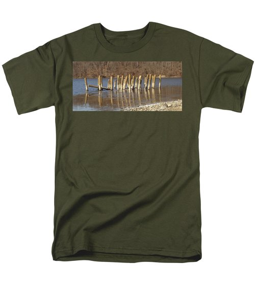 Frozen Pilings Men's T-Shirt  (Regular Fit) by Michael Porchik