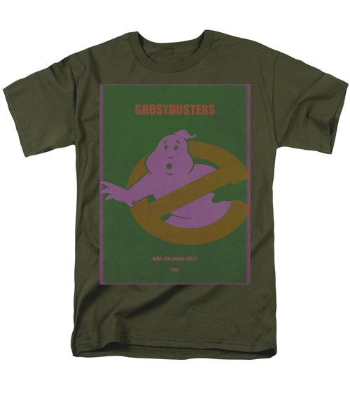Men's T-Shirt  (Regular Fit) featuring the digital art Ghostbusters Movie Poster by Brian Reaves