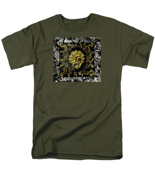 Golden God Men's T-Shirt  (Regular Fit) by Nareeta Martin