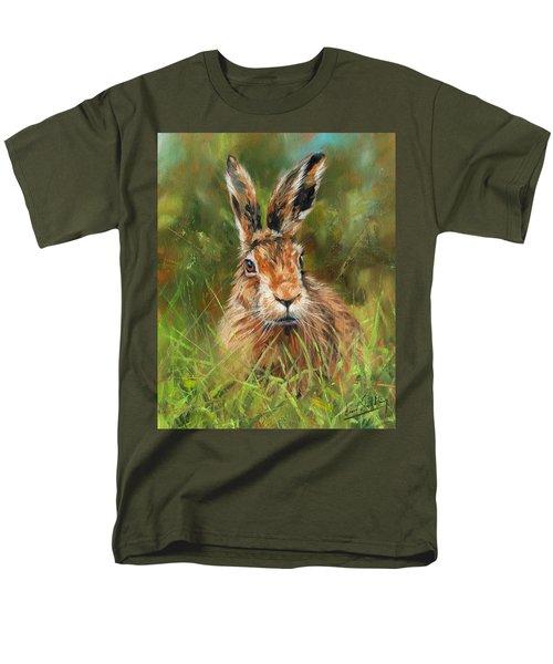 hARE Men's T-Shirt  (Regular Fit) by David Stribbling