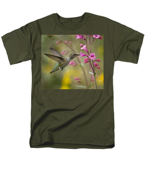 Hummingbird Heaven  Men's T-Shirt  (Regular Fit) by Saija  Lehtonen