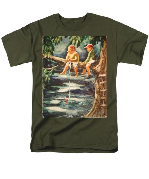 Jes Fishin Men's T-Shirt  (Regular Fit) by Marilyn Jacobson