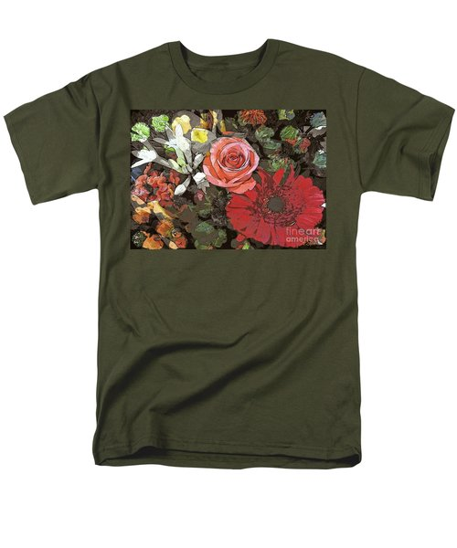 Men's T-Shirt  (Regular Fit) featuring the digital art Lancaster Flowers by Joseph J Stevens