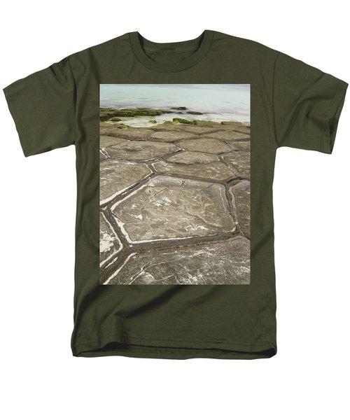 Natural Forming Pentagon Rock Formations Of Kumejima Okinawa Japan Men's T-Shirt  (Regular Fit) by Jeff at JSJ Photography