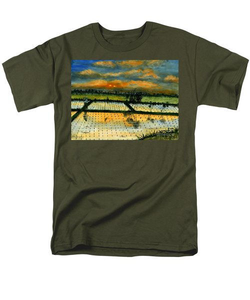 Men's T-Shirt  (Regular Fit) featuring the painting On The Way To Ubud Iv Bali Indonesia by Melly Terpening