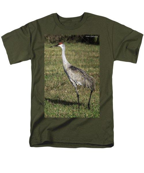 Sandhill Crane Men's T-Shirt  (Regular Fit) by Fran Gallogly