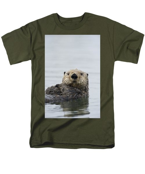Sea Otter Alaska Men's T-Shirt  (Regular Fit) by Michael Quinton