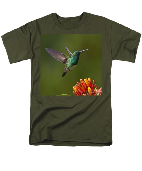 Snowy-bellied Hummingbird Men's T-Shirt  (Regular Fit) by Heiko Koehrer-Wagner