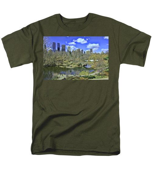 Springtime In Central Park Men's T-Shirt  (Regular Fit) by Allen Beatty