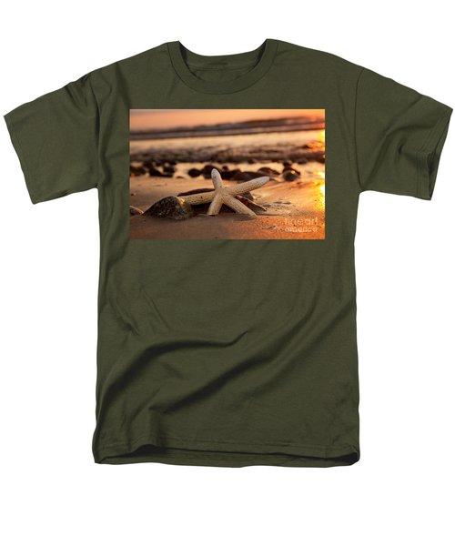 Starfish On The Beach At Sunset Men's T-Shirt  (Regular Fit) by Michal Bednarek