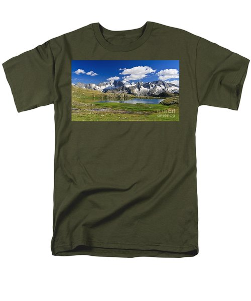 Men's T-Shirt  (Regular Fit) featuring the photograph Strino Lake - Italy by Antonio Scarpi