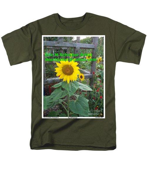 Sunflower Men's T-Shirt  (Regular Fit) by Eric  Schiabor