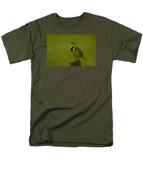 The Meadowlark Sings Men's T-Shirt  (Regular Fit) by Jeff Swan