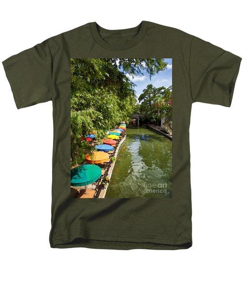 The River Walk Men's T-Shirt  (Regular Fit) by Erika Weber