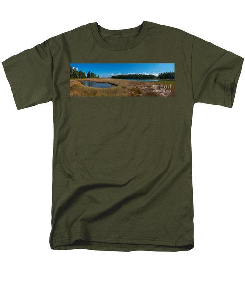 Thompson Island In Maine Panorama Men's T-Shirt  (Regular Fit) by Michael Ver Sprill