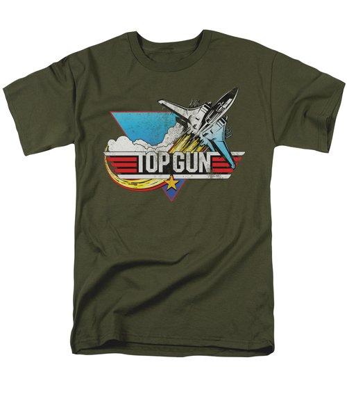Top Gun - Distressed Logo Men's T-Shirt  (Regular Fit) by Brand A