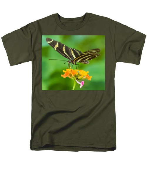 Men's T-Shirt  (Regular Fit) featuring the photograph Zebra Longwing by Jane Luxton